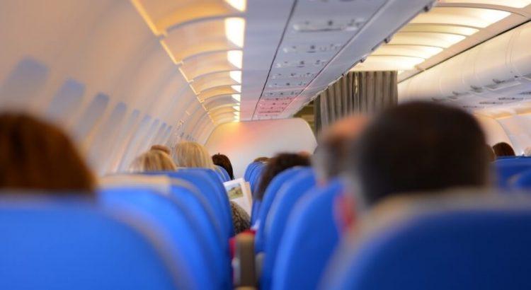 v letadle