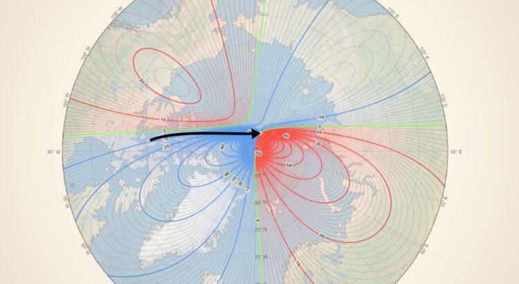 severný magnetický pól