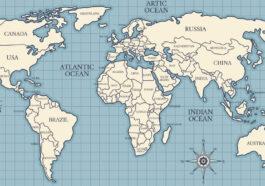 plastická mapa